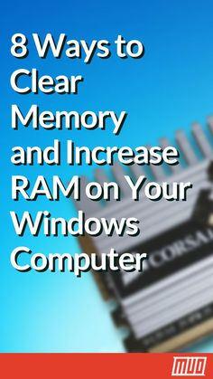 8 Ways to Free Up RAM on Your Windows Computer 8 Ways to Clear Memory and Increase RAM on Your Windows Computer --- Are you concerned about RAM usage on your computer? Seeing messages that your computer is low on memory? Don't fear—we're here to help. Computer Shortcut Keys, Computer Diy, Computer Basics, Der Computer, Computer Internet, Computer Repair, Computer Hacking, Computer Security, Technology Hacks