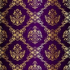 love the purple and gold damask