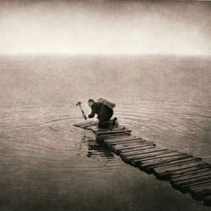 """The Gloaming — The Gloaming (cover) - Irish supergroup The Gloaming used a photo called """"Passage"""" by Robert and Shana Parke Harrison for their self-titled debut album. (Marshable """"15 visually stunning album covers of 2014"""")"""