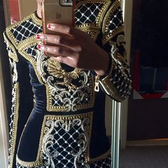 Balmain x HM beaded velvet dress Classic and regal piece. Never worn, still with tags. Not in a rush to sell so price is firm. Balmain Dresses Mini