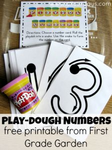 Play dough numbers #creativetable