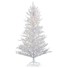 Improvements Led Flocked White Christmas Tree-6-1/2' ($200) ❤ liked on Polyvore featuring home, home decor, holiday decorations, artificial christmas tree, outdoor christmas decor, outdoor christmas tree, white christmas tree, outdoor home decor, outside home decor and white home decor