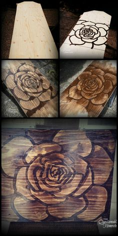 Wood Stain Wall Art