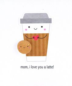 Does your mom love coffee or lattes? Does she love a good pun, especially a coffee pun? Then you've found the perfect happy Mother's Day card for her! This coffee greeting card may not feature a real latte, but you could tuck a gift certificate inside to mom's favorite coffee shop. #thecardkiosk