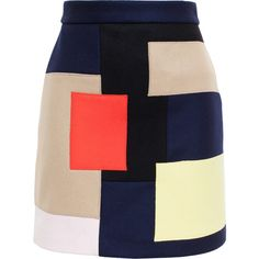 MSGM are known for playfulness and vibrancy, with their Fall 2015 collection witnessing abstract patterns in bold colour schemes.  This navy blue wool skirt is…