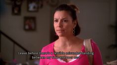 """When she used these fighting words. 