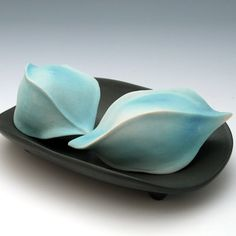 Turquoise blue porcelain sea pod by robertapolfus on Etsy, $42.00