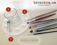 Image result for diferentes tipos de pinceles para pintar en textil imagenes