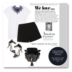 """""""chic simple"""" by adduncan ❤ liked on Polyvore featuring Balmain, Emilio Pucci, Yves Saint Laurent and Giorgio Armani"""