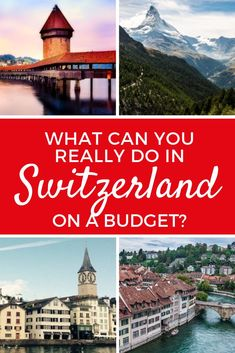 it possible to visit Switzerland on a Budget? What attractions and sites can a traveler on a budget see in Switzerland? You'll be surprised to find.there are plenty of options and Switzerland doesn't have to be as expensive as you might imagine! Europe On A Budget, Budget Travel, Travel Plan, Travel Tips, Travel Guides, Cheap Family Vacations, Best Vacations, Visit Switzerland, Lucerne Switzerland