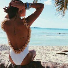 Cute Bikini Women One Piece Swimsuit Sexy Swimwear Backless Floral Print Monokini Bathing Suits Female Beachwear White Biquini Backless Bodysuit, Backless Jumpsuit, Floral Jumpsuit, Lace Jumpsuit, Short Jumpsuit, White Bodysuit, Floral Bodysuit, White Romper, Lace Dress
