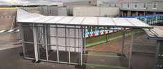 Airside Covered Walkway | East Midlands Airport - Airside Passenger Walkway | Broxap