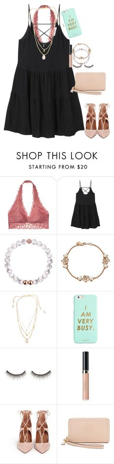 """""""i am very busy{rtd}"""" by a-little-prep-in-your-step ❤ liked on Polyvore featuring Victoria's Secret, MANGO, Shaun Leane, Chan Luu, ban.do, shu uemura, ArtDeco, Aquazzura and Tory Burch"""