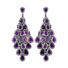 Mulberry Chandelier Earrings 32 Liked On Polyvore Featuring Jewelry 2028 Accessories Enamel Purple E