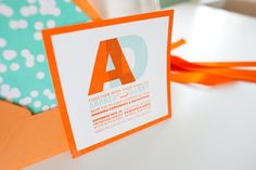 neon wedding invitations by Fig. 2 Design via United With Love