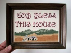 Gob bless this house  funny cross stitch inspired by aliciawatkins, $125.00