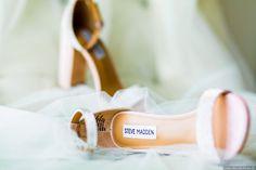 Summer blush strap heeled wedding sandals + wedding shoe and veil photography ideas {Glass Woods Media}