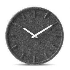 Felt Index Wall Clock by Leff Amsterdam