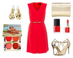 """dress"" by martyna10146 on Polyvore featuring moda, MaxMara, Chinese Laundry, Ippolita, Jimmy Choo, NARS Cosmetics, Clinique i TheBalm"