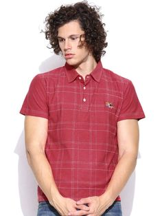 Dream of Glory Inc. Pink Checked Polo T-shirt
