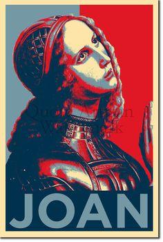 Saint Joan of Arc (Original Art Print - Inch Photo Poster Gift) Joan D Arc, Saint Joan Of Arc, St Joan, Jeanne D'arc, Religious Images, Warrior Princess, Selling Art, Women In History, Original Art