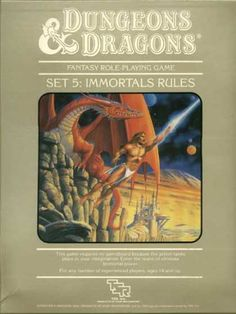 Role Playing Games - Dungeons & Dragons Immortals Rules