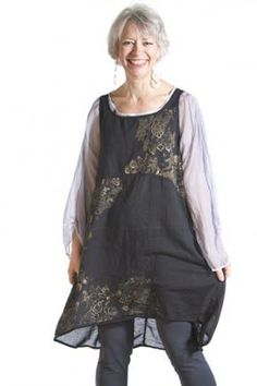 Florica Cotton Voile Shift Printed : Blue Fish Clothing