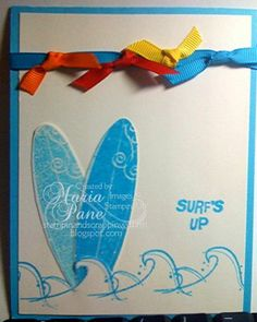 Quick card-SU stamp set- Just Surfing