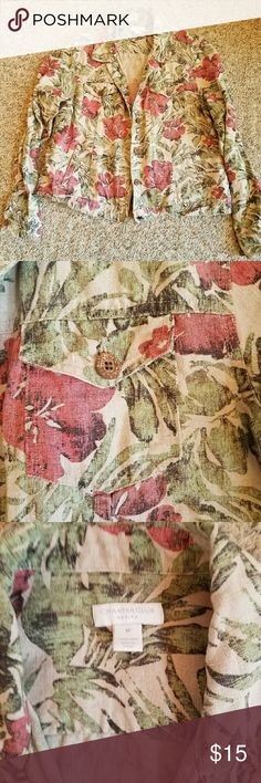 ⭐☄Clearout sale☄⭐Floral print jacket Light weight linen jacket. Only worn a handful of times. Like new! Great print, looks nice with a plain white Tshirt. Charter Club Tops