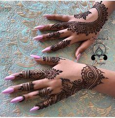 Mehndi Design Ideas For Girls - Mehndi Designs Finger, Modern Mehndi Designs, Mehndi Designs For Fingers, Beautiful Henna Designs, Mehandi Designs, Henna Tattoo Designs, Arabic Henna Designs, Mandala Tattoo Design, Henna Tatoos