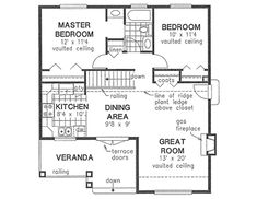 6 tiny two-bedroom country home floor plans