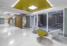 """Un #diseño """"innovador"""" del espacio en la nueva sede AFI  #Iluminación"""