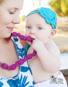 knotted statement necklace / beaded teething necklace nursing necklace -- the classic collection (pick your color)