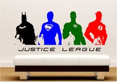 DC Comics Justice League Silhouette Wall Art Stickers – iwallstickers
