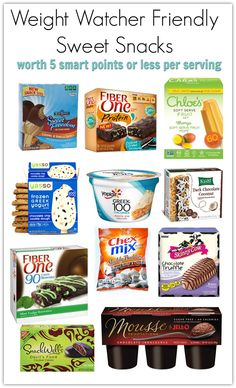 More Smart Desserts with WW Smart Points – Meal Planning Mommies You will love this list of Weight Watcher friendly sweet snacks/desserts that are 5 smart points or less per serving! Frozen treats, snack bars, and more! Weight Watcher Desserts, Weight Watchers Snacks, Weight Watcher Dinners, Weight Watchers Tipps, Weight Watchers Smart Points, Weight Watchers Motivation, Weight Watchers Program, Weight Watchers Dressing, Recipes