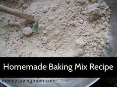 Homemade Baking Mix Recipe: so simple to whip up! Use in place of Bisquick.
