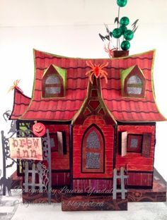 Hauntingly Cute SVGCuts.com - Laurie's awesome version of our Bewitched Cabin <3