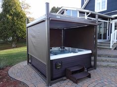 hot tub privacy screen: stunning spa and hot tub cover that serves as a gazeebo and privacy screen