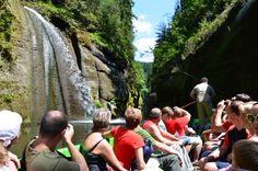 Boat ride in the gorge of river Kamenice in Hrensko - Bohemian Switzerland