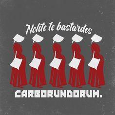 Nolite te bastardes carborundorum, 2-color, Handmaid's Tale Unisex T-Shirt