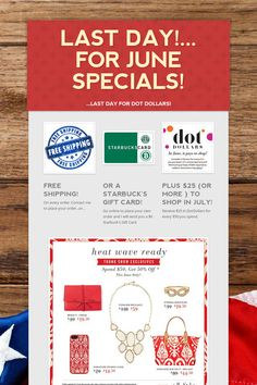 LAST DAY!... for June Specials!