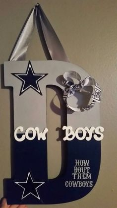 Dallas Cowboys wooden letter by stblexa on Etsy https://www.etsy.com/listing/202597186/dallas-cowboys-wooden-letter