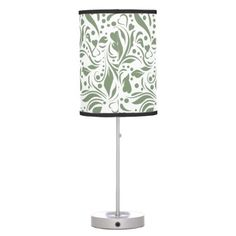 floral monogram pattern desk lamp - monogram gifts unique design style monogrammed diy cyo customize