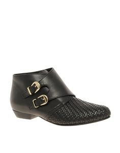 double buckle ankle boot