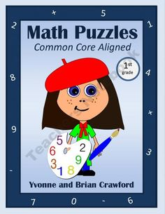 Common Core Math Puzzles - 1st Grade product from Yvonne-Crawford on TeachersNotebook.com