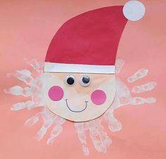 Babbo Natale con barba di mani