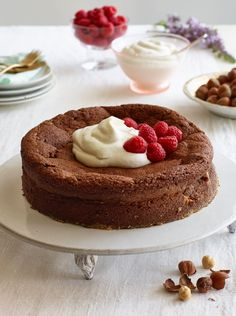 Just wanted to share this delicious recipe from Lidia Bastianich with you - Buon Gusto!  Chocolate-Hazelnut Cake