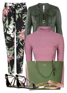 Pink & Olive by ljbminime on Polyvore featuring polyvore fashion style Glamorous Wallis Kate Spade Voz Collective Giuseppe Zanotti