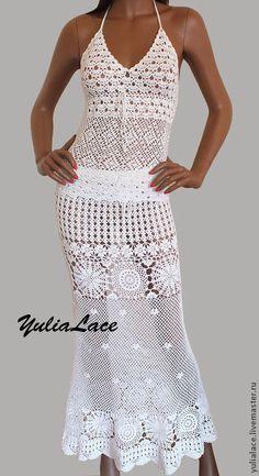 Вязаная юбка - белый,белая юбка,белая вязаная юбка,юбка вязаная,юбка в пол