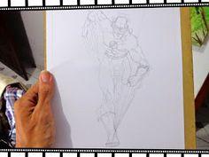 The Flash, no meu traço. Veja todo o processo em nosso blog.